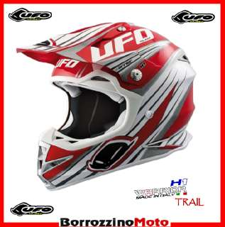 NUOVO CASCO MOTO CROSS ENDURO OFF ROAD UFO WARRIOR H1 TRAIL ROSSO