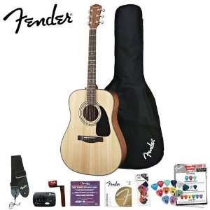 Fender DG 8S Acoustic Guitar Value Pack with Fender/GO DPS