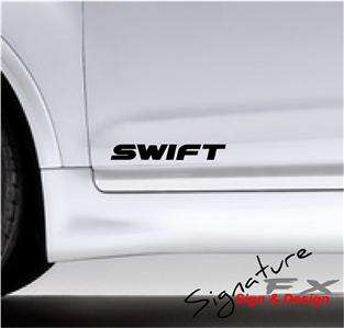 2x SUZUKI SWIFT DECAL STICKERS GRAPHICS