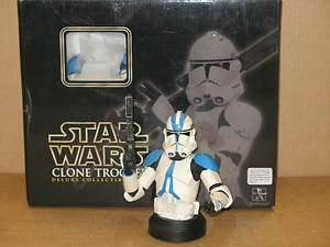 Star Wars Gentle Giant Bust 501ST Deluxe Blue CLONE TROOPER statue