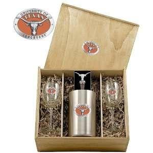 Texas Longhorns Wine Set Box: Sports & Outdoors
