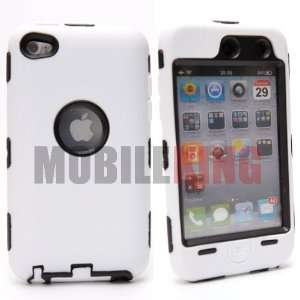(MOBILE KING) Dual Ultra Rugged Protector Case White