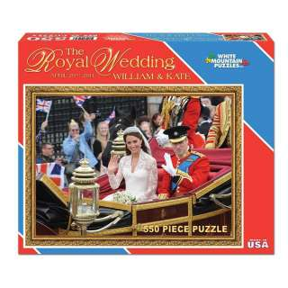 New White Mountain 550 pc Jigsaw Puzzle Princess Prince Royal Wedding
