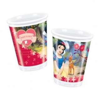 Disney Princess Snow White Plastic Cups x10, Childrens Birthday Party