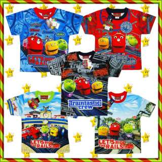 CHUGGINGTON Train Kids Baby Boys Clothes toy Top Tshirt