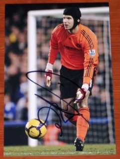 PETR CECH CHELSEA HAND SIGNED 12X8 PHOTO