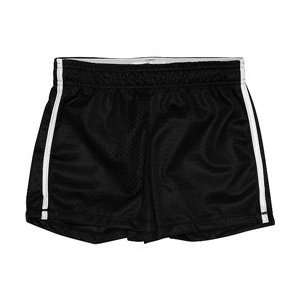 MJ Soffe Side Stripe Mesh Short Girls   Black Small (7
