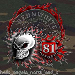 HELLS ANGELS SUPPORT BRM 81 CAMOUFLAGE HOODED ZIP JACKE 666