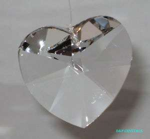 HANGING CRYSTAL HEART GLASS SUNCATCHER PRISM 38mm