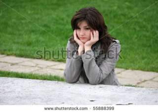 Sad Girl Waiting At The Table Stock Photo 55888399  Shutterstock