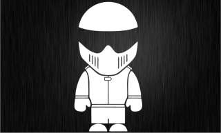 WHITE   THE STIG MAN car sticker   Top Gear, Clarkson, Funny
