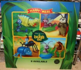 McDonalds Happy Meal Disney Pixar A Bugs Life Toy Chracter Advertising