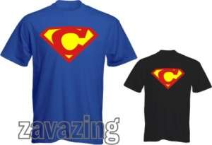 SUPERMAN LOGO INITIAL C T SHIRT HERO FANCY DRESS GIFT