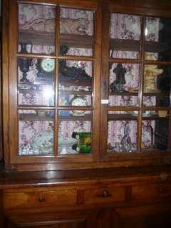 meuble vaisselier vitrine bahut 2 corps .antiquité tendance