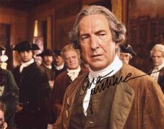 Alan Rickman autograph, signed photo