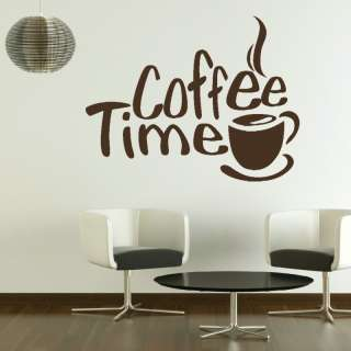 Kitchen on Coffee Time Dining Room Kitchen Wall Art Sticker Transfer Graphic