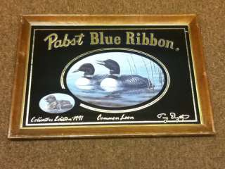 C7 PABST BEER SIGN MIRROR COMMON LOON COLLECTIBLE EDITION VINTAGE