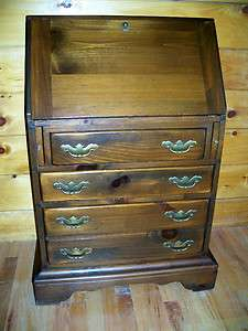 Ethan Allen Antiqued Pine Old Tavern Drop Front Secretary/Key Shipping