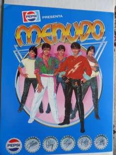 Mini Music Poster MENUDO Ricky Martin PEPSI Boy Band