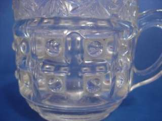 EAPG Columbia US Glass Daisy Band Crystal Cup