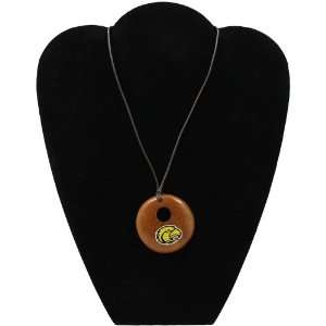 NCAA Dayna U Southern Miss Golden Eagles Round Wooden Necklace:
