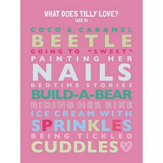 personalised childs loves print by mimi & mae
