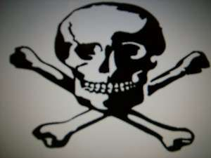 SKULL and CROSSBONES jolly rogers decal sticker
