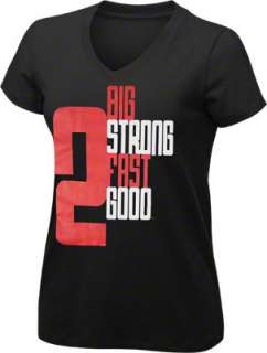 Womens 2 Big 2 Strong Black/Red V Neck T Shirt  21KING by Stacey King