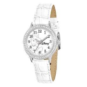 Disney™ Womens Cinderella White Leather Strap Watch