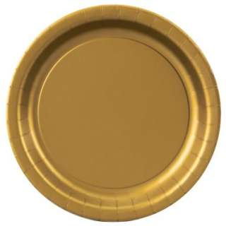 Glittering Gold (Gold) Dinner Plates (24 count)   Costumes, 72611