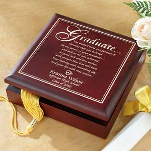 Personal Creations Graduation Wood Keepsake Box at HSN