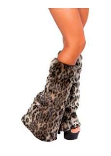 Leopard Print Leg Warmers, a Stockings, Tights & Socks Costume at