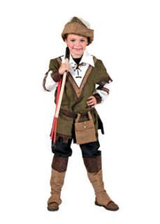 Forest Robin Hood Boys Renaissance Costume at Wholesale Prices