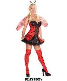 Playboy Ladybug Costume, Sexy Adult Costumes