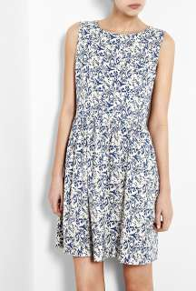 Vanessa Bruno Athe  Blue Ikat Print Dress by Vanessa Bruno Athé