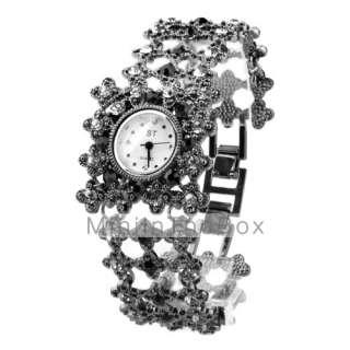 banda de aleación de reloj pulsera con el tallado de flores #00244779