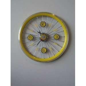 Art4Kids 98206 Bike Wheel Clock   with yellow rim