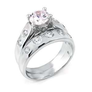 Ring Set Designed with High Quality Cubic Zirconia, 2.50 Total Carat