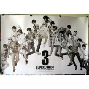 collage horiz POSTER 34 x 23.5 SuJu Korean boy band