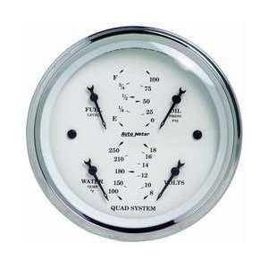 Auto Meter 1610 5IN O/T/W QUAD GAUGE Automotive
