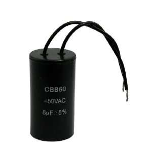 AC 450V 8uF Cylinder Shaped Motor Start up Running Capacitor