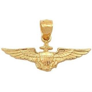 14k US Air Force Pilot Wings Pendant   JewelryWeb Jewelry