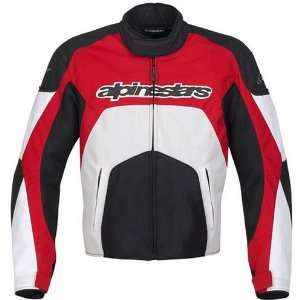 Mens Textile Vented On Road Racing Motorcycle Jacket   Red / 3X Large