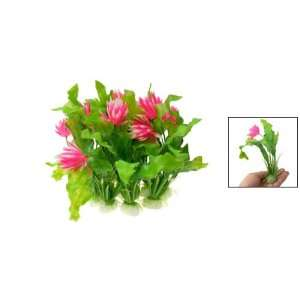 Como Plastic Lotus Flower Aquarium Plant Fish Tank