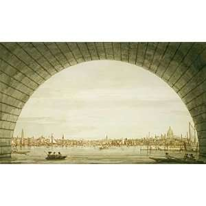Canaletto (London The City Seen through an Arch of Westminster Bridge