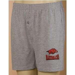 Arkansas Razorbacks NCAA Mens Sport Boxer Shorts (Gray