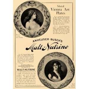 1907 Ad Anheuser Busch Malt Nutrine Vienna Art Plates   Original Print