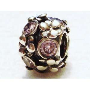 Authentic 925 sterling silver red gemstone spacer charm fits pandora