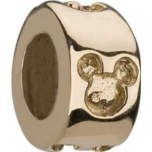 14K Gold Authentic CHAMILIA MICKEY Spacer Charm BEAD fits Pandora