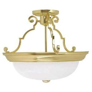Capital 3 Light Ceiling Fixture Polished Brass  Home